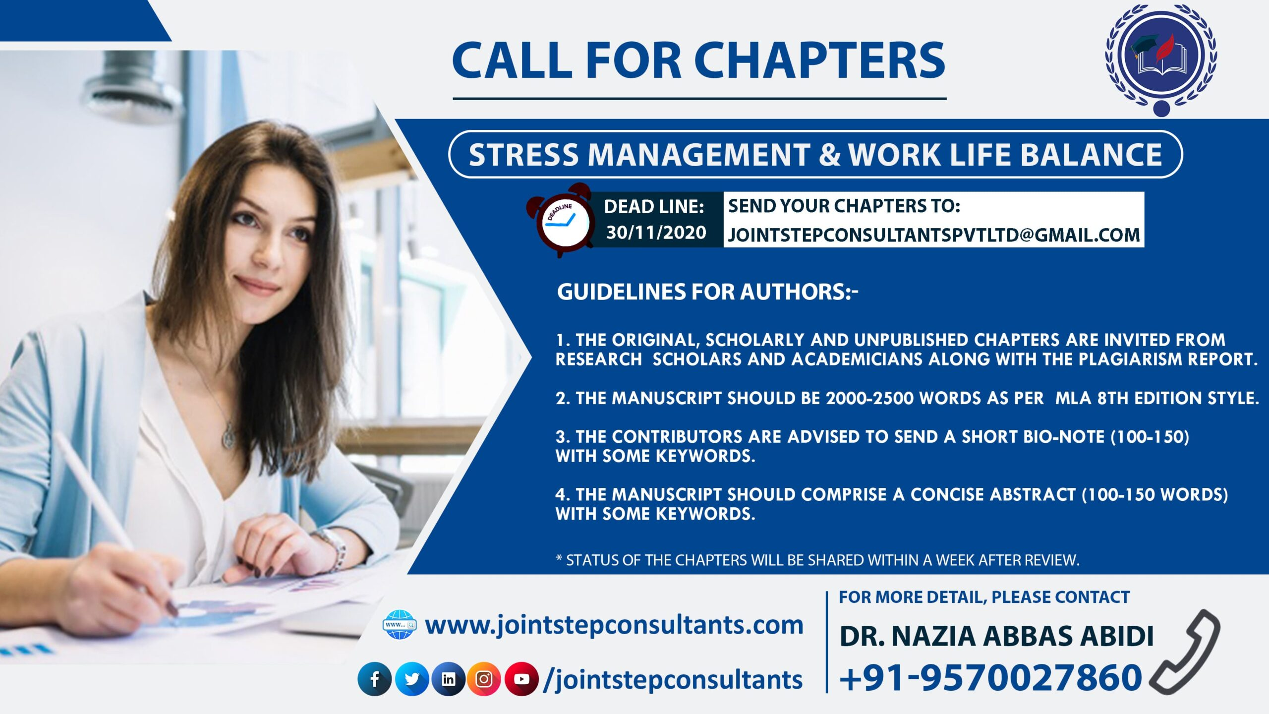 Call for Chapters Stress Management and Work Life Balance